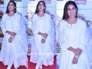 sara ali khan in white salwar kameez