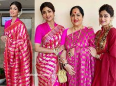 shilpa shetty with family at a wedding (1)
