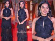 shivatmika rajasekhar in black maxi dress at zee cine awards 2020