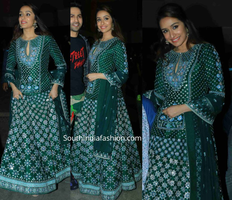 shraddha kapoor in green lehenga at umang police show 2020