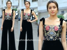 shraddha kapoor black palazzos and brocade top at street dancer promotions