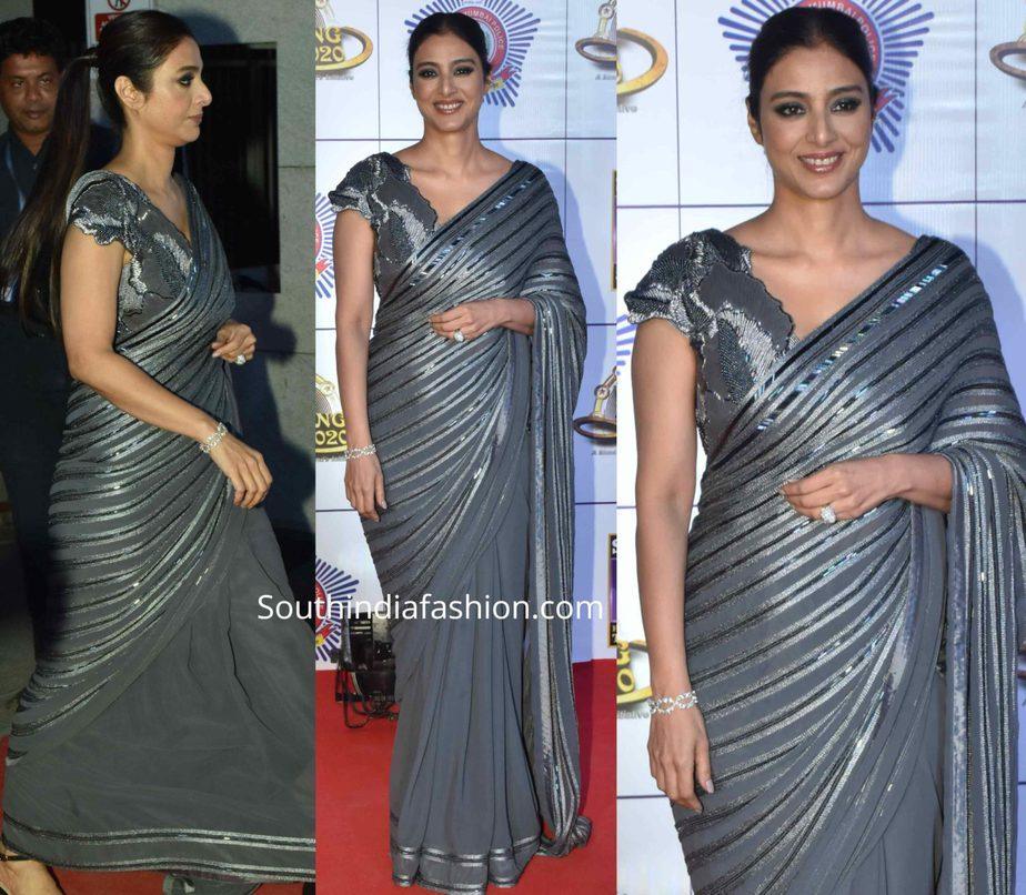 tabu in grey saree at umang 2020