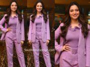 tamannaah bhatia in lavender outfit by zara