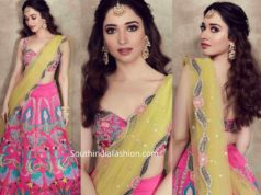 tamannaah in aisha rao lehenga at her best frind wedding