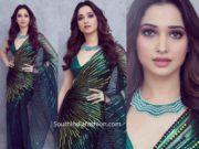 tamannaah in green saree at her best frind wedding