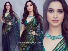 tamannaah in green saree at her best frind wedding