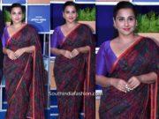 vidya balan saree at amazon prime blue carpet event (1)