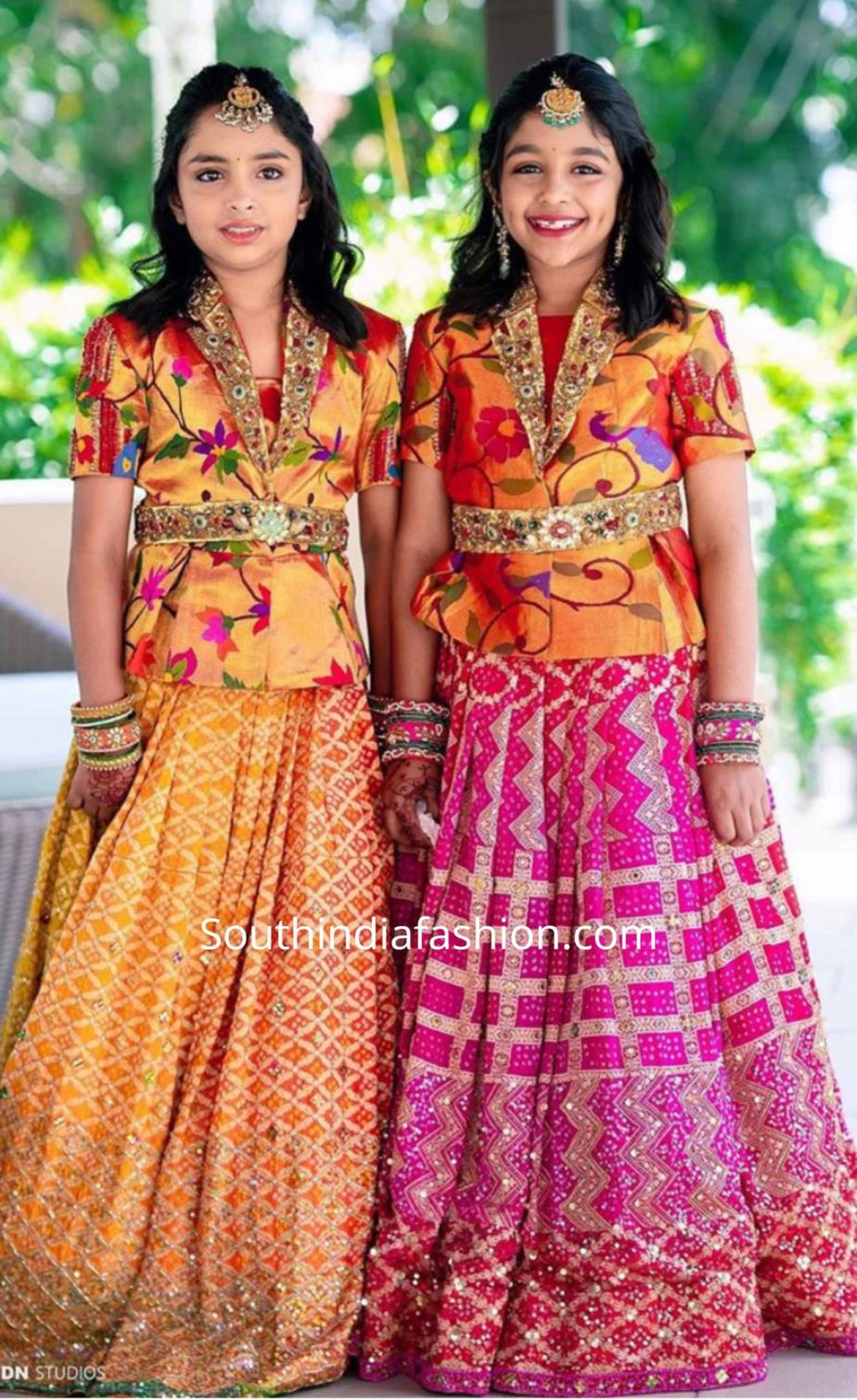viranica manchu daughters in pattu lehengas