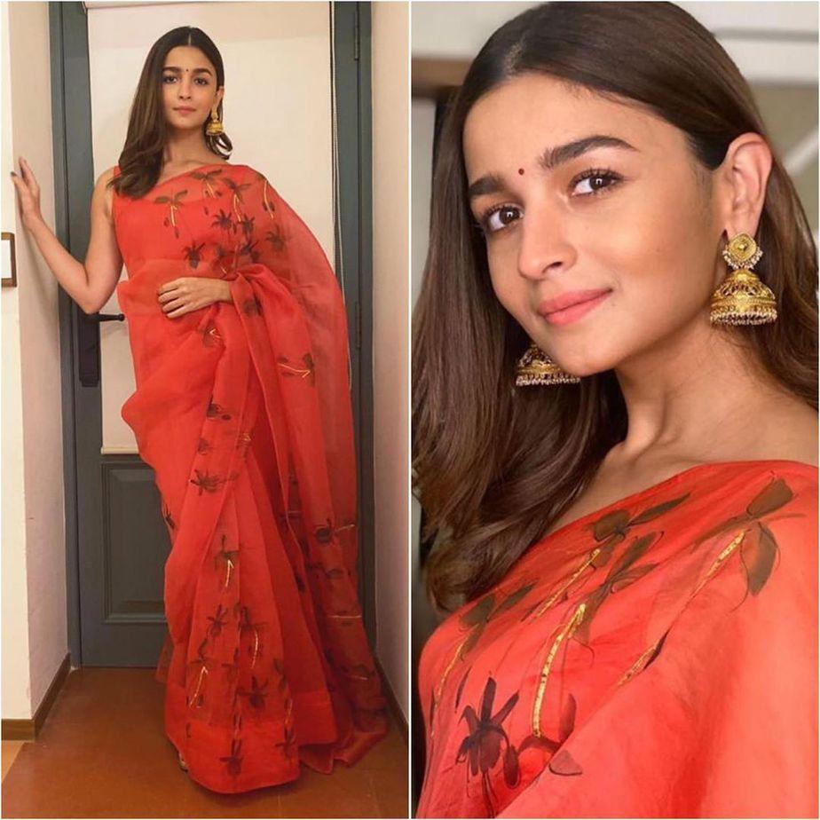 Alia Bhatt in a Picchika saree
