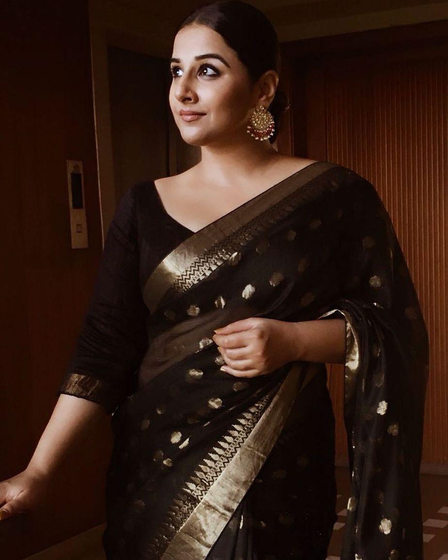 Vidya Balan in a U neckline