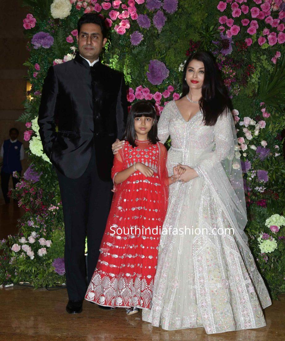 aishwarya aaradhya at armaan jain wedding