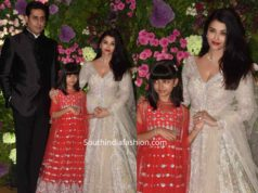 aishwarya and aaradhya at armaan jain wedding (2)