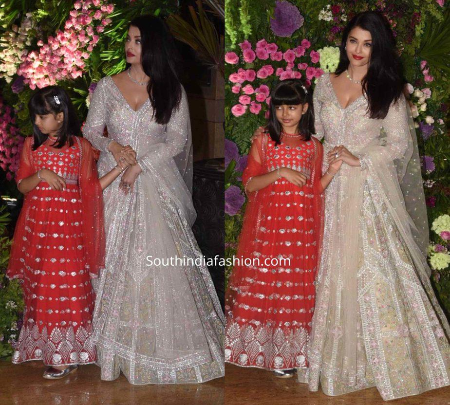 aishwarya and aaradhya at armaan jain wedding (1)