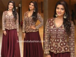 aishwarya rajesh in skirt and peplum blouse at world famous lover pre release event