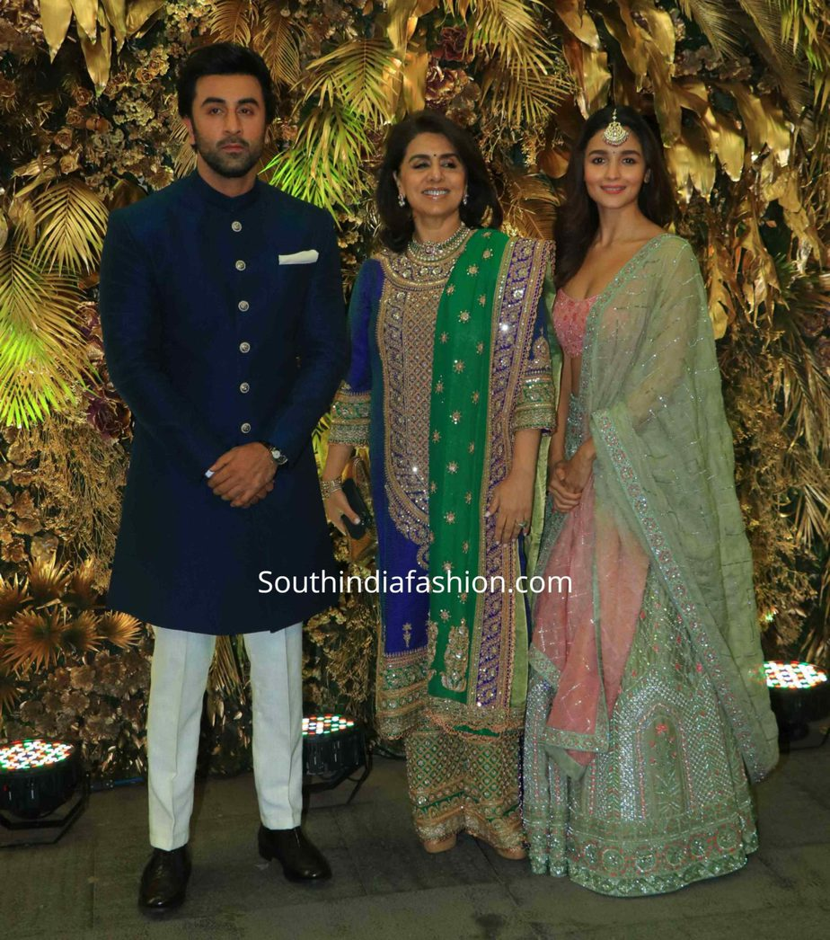 alia bhatt and ranbir kapoor at armaan jain wedding reception