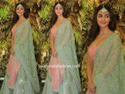alia bhatt in pink and green lehenga at armaan jain wedding reception