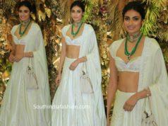 athiya shetty lehenga at armaan jain wedding