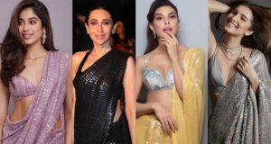 bollywood actresses in manish malhotra sequin sarees