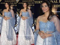 daisy shah in blue lehenga at dadasaheb phalke awards
