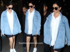 deepika padukone at airport in biker shorts
