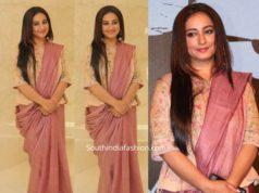 divya dutta saree with long blouse