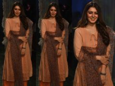 hansika in kurta palazzo seuit at lakme fashion week 2020
