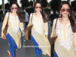 hansika jeans with yellow kurta