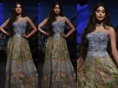 janhvi kapoor in rahul mishra gown at lakme fashion week 2020