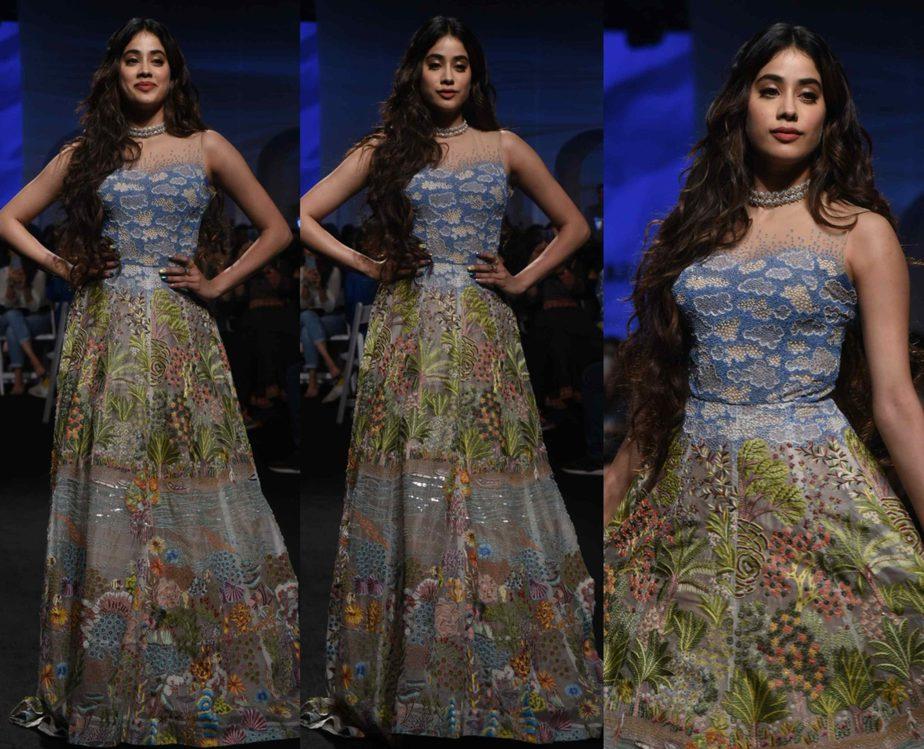 janhvi kapoor in rahul mishra gown at lakme fashion week 2020