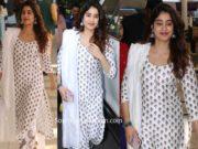 janhvi kapoor in white printed palazzo suit at airport (2)