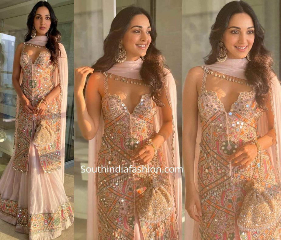 kiara advani lehenga at armaan jain pre wedding