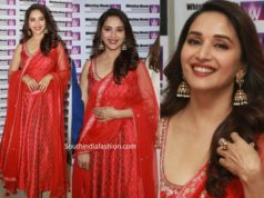 madhuri dixit in anita dongre red anarkali