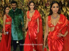 malaika arora in red dress at armaan jain wedding
