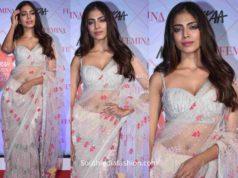 malavika mohanan saree at femina beauty awards 2020 (2)