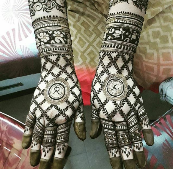 easy henna design for back hands