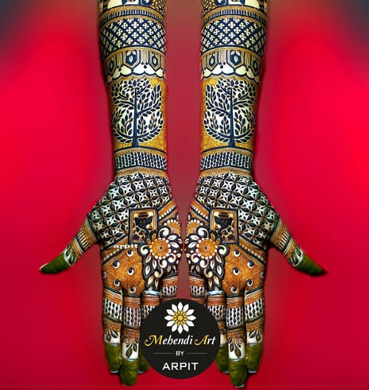 full hand bridal mehndi design 2020