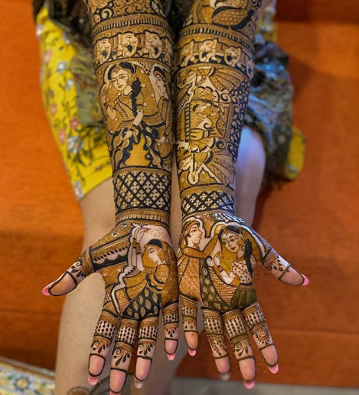 unique bridal design for hands