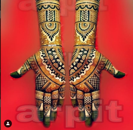 full hand bridal mehndi design latest