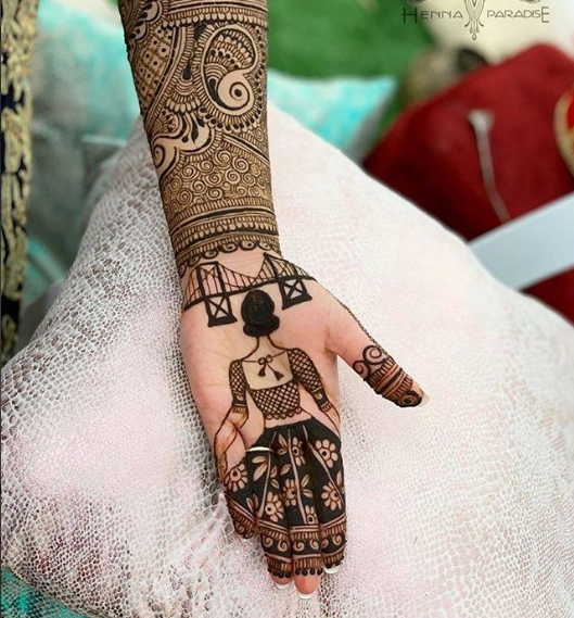 bridal mehndi design latest