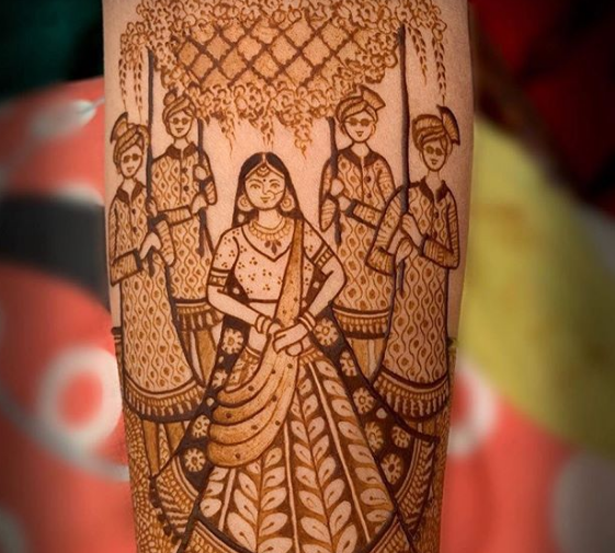 bridal doli henna design