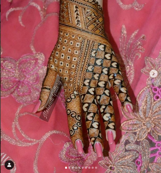 romantic mehndi design