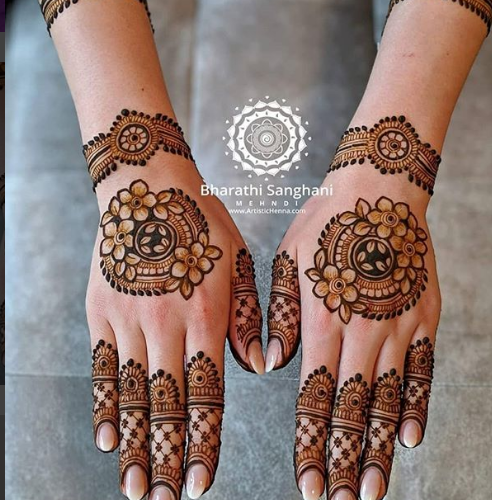 unique mandala henna design