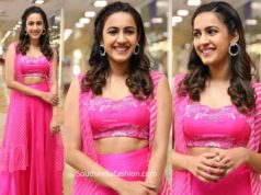 niharika konidela in pink lehenga at hilife exhibition