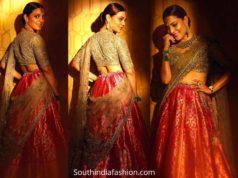 nisha aggarwal in jayanti reddy lehenga