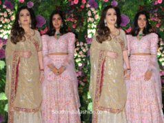 nita ambani and isha ambani lehengas at armaan jain wedding (1)