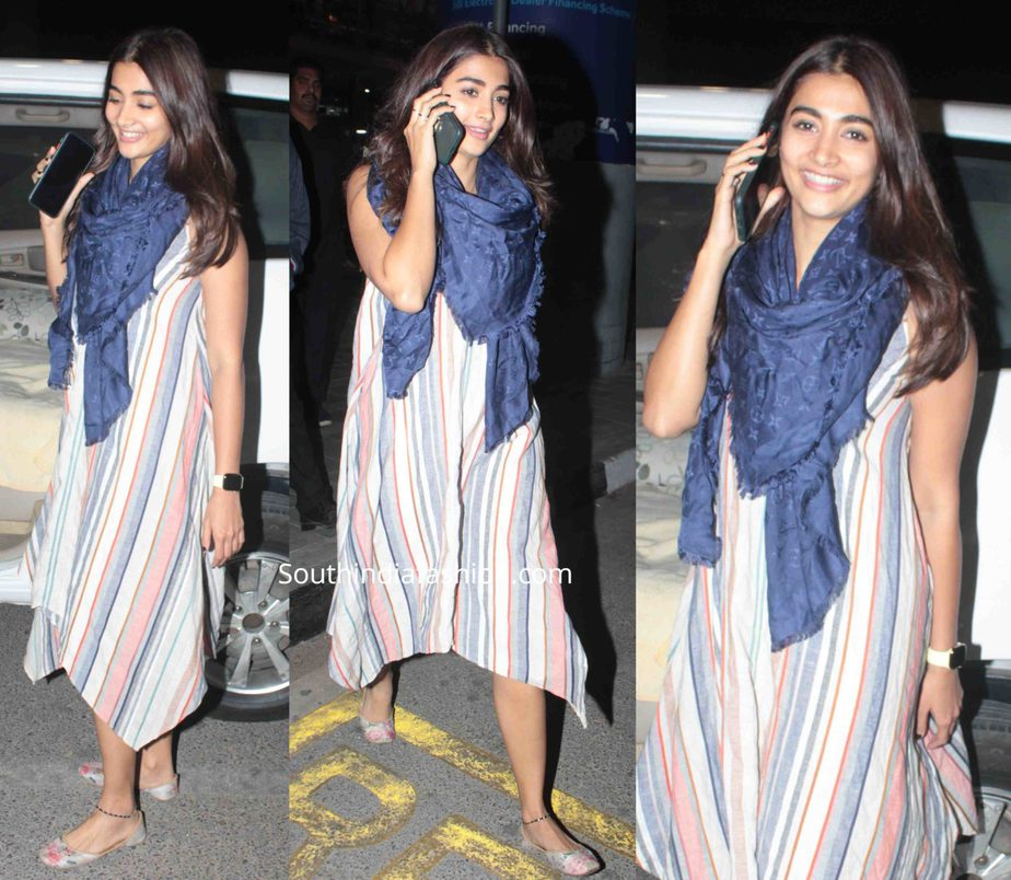 pooja hegde casual look dress