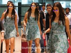 pooja hegde mini dress at airport
