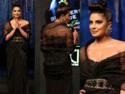 priyanka chopra in black tarun tahiliani outfit at blenders pride fashion tour