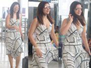 raashi khanna at airport white dress