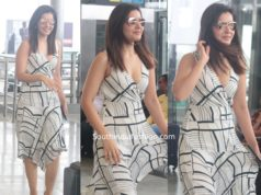 raashi khanna at airport white dress